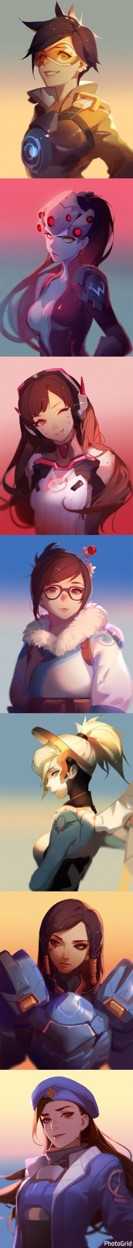 Overwatch in anime style