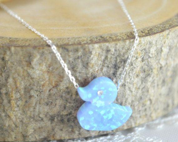 #duck opal necklace, bird pendant, teenage jewelry, #Kids necklace, Children jewelry, Kid jewelry, Duck charm, #cartoon jewelry, child fashion, daugther gift, cute charm girls jewelry