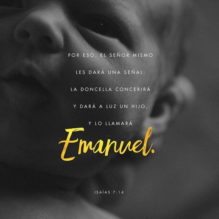 Muy bien el Señor mismo les dará la señal. Miren! La virgen concebirá un niño! Dará a luz un hijo y lo llamarán Emanuel (que significa Dios está con nosotros). Isaías 7:14 NTV http://ift.tt/2l2CyTu #JR