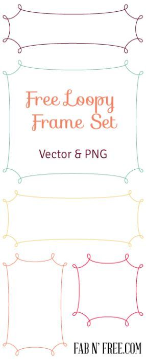 Free Graphic Frames in vector and png.  Great for graphic design and digital scrapbooking.
