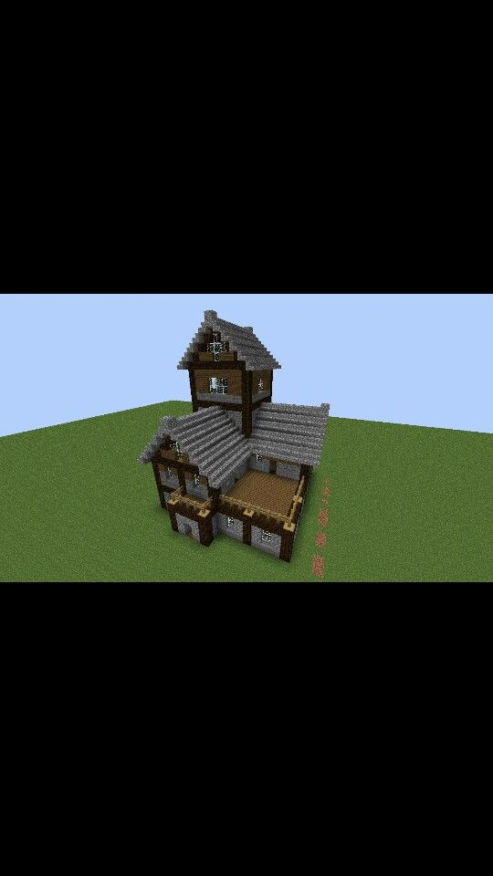 Cute Minecraft Two Story House/Cabin