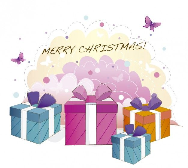 Free vector Card with christmas gift boxs #33771