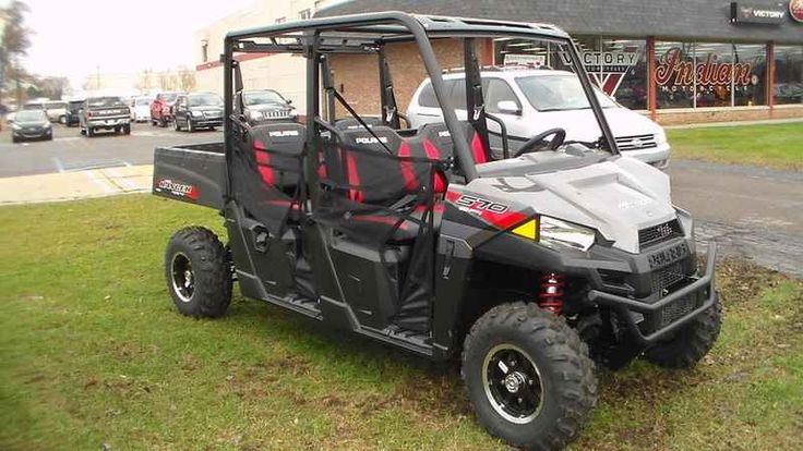 New 2017 Polaris RANGER CREW 570-4 EPS Titanium Metallic ATVs For Sale in Michigan. 2017 Polaris RANGER CREW 570-4 EPS Titanium Metallic, 2017 Polaris® RANGER CREW® 570-4 EPS Titanium Metallic Get More Done on the Hunt or Around the Property Most powerfull 44 HP ProStar® EFI engine in its class Adjustable Suspension Travel and Refined Cab Comfort, Including Lock & Ride® Pro Fit Accessory Integration Features may include: HARDEST WORKING FEATURES THE PROSTAR® ENGINE ADVANTAGE The RANGER…
