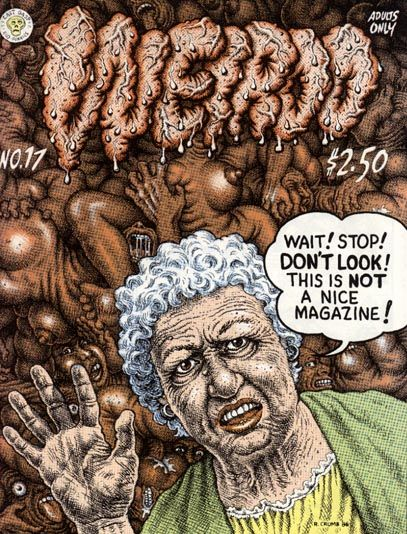 Weirdo #17   Comic book cover. By R.Crumb. Adults Only!