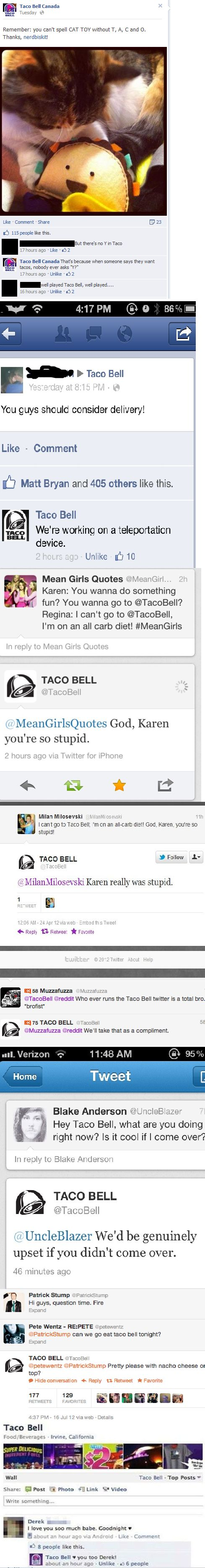 Taco Bell is a boss (and Patrick Stump haha) because I need another reason to be obsessed with Taco Bell lol