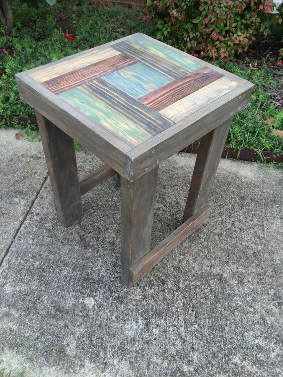 ready to ship handmade reclaimed wood end by this came to
