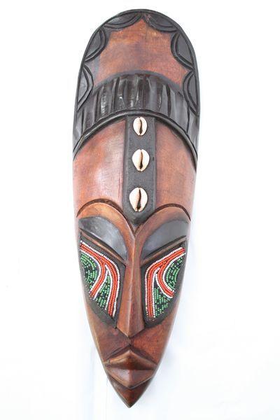 Artesania de Africa,máscara decorativa madera. Más