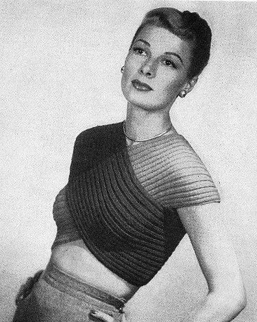 INSTANT PDF PATTERN 1940s Vintage Knitting Crochet Pattern Film Noir Style Midriff Ribbed Bandeaux Top Sweater Stunning Glam on Etsy, $5.00