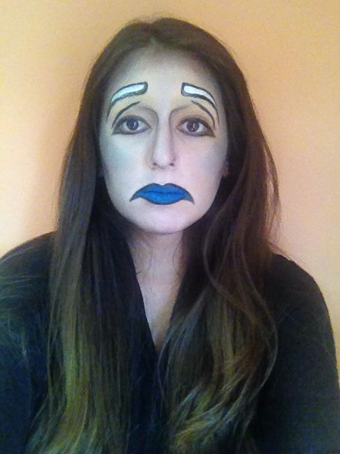 maquillaje triste