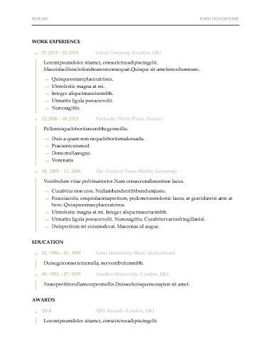 17 best Resume Templates images on Pinterest Resume templates - how to format a resume in word