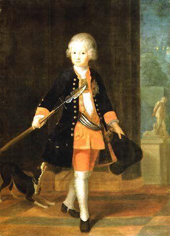 Friedrich as a child by Antoine Pesne, 1724