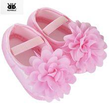 Crianças Sapatos Prewalker Flor Macia Sole Menina Infantil Primeiro Walkers Do Bebê Sapatinho para recém-Nascido antiderrapante Crib Shoes Sapatinhos De Bebe(China)