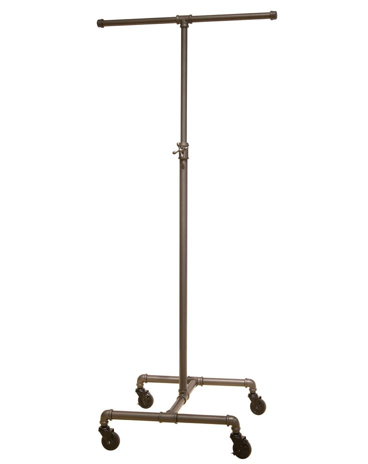 Just found this at #TheShopCompany - Coal Grey Single Rail Pipeline Collection Rolling Clothing Rack (w/o side poles)