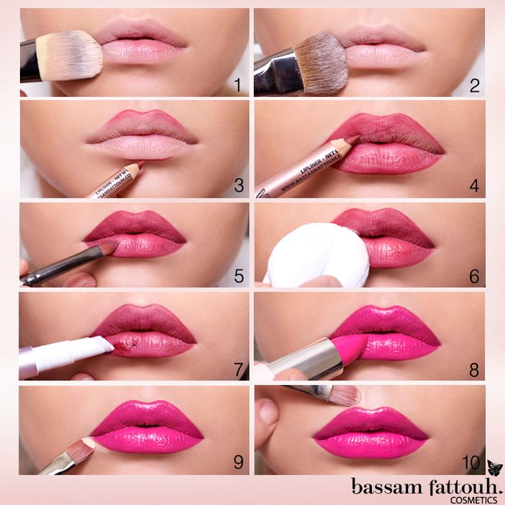 The Step-by-Step Lipstick Application Tutorial by Bassam Fattouh.