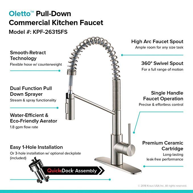 kpf 2631sfs oletto single handle pull