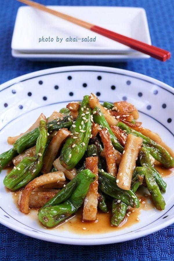 しし唐と竹輪のオイスターソース炒め by 長岡美津恵akai-salad ...