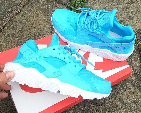 Baby Blue Nike Huarache unisex customs. by JKLcustoms on Etsy