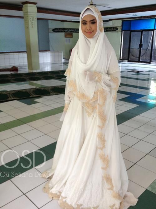 wedding-islam- long veil