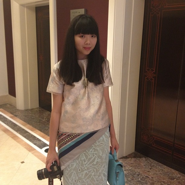 I ran into Susie Bubble at the Shangri La Hotel in Sydney during MBAFW !