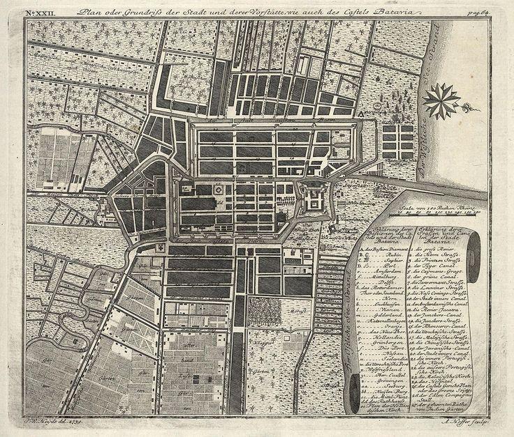 Map of Batavia  1739