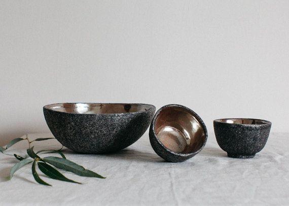dekorative Schale, Tischdekoration, Keramik-Set, moderne Keramik, Weihnachtsgeschenk, Salatschüssel, Satz von Schalen, Schüsseln, Geschirr, Steingut