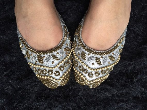 Silver bridal shoes silver shoes flat shoes by SamiModernStyles