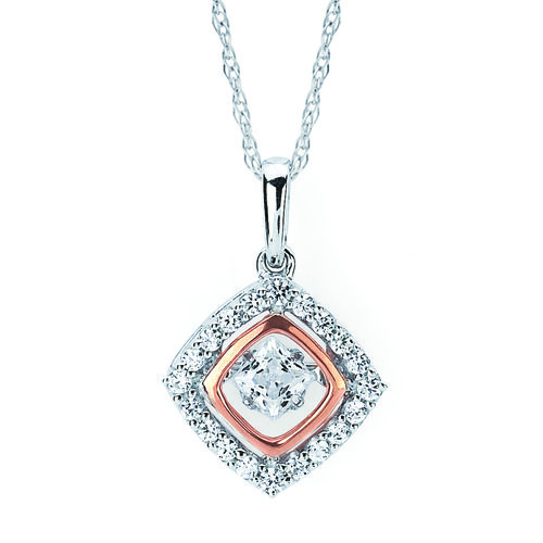 Fine Jewelry Womens 1 1/2 CT. T.W. White Diamond 14K Gold Pendant Necklace a3Bpg