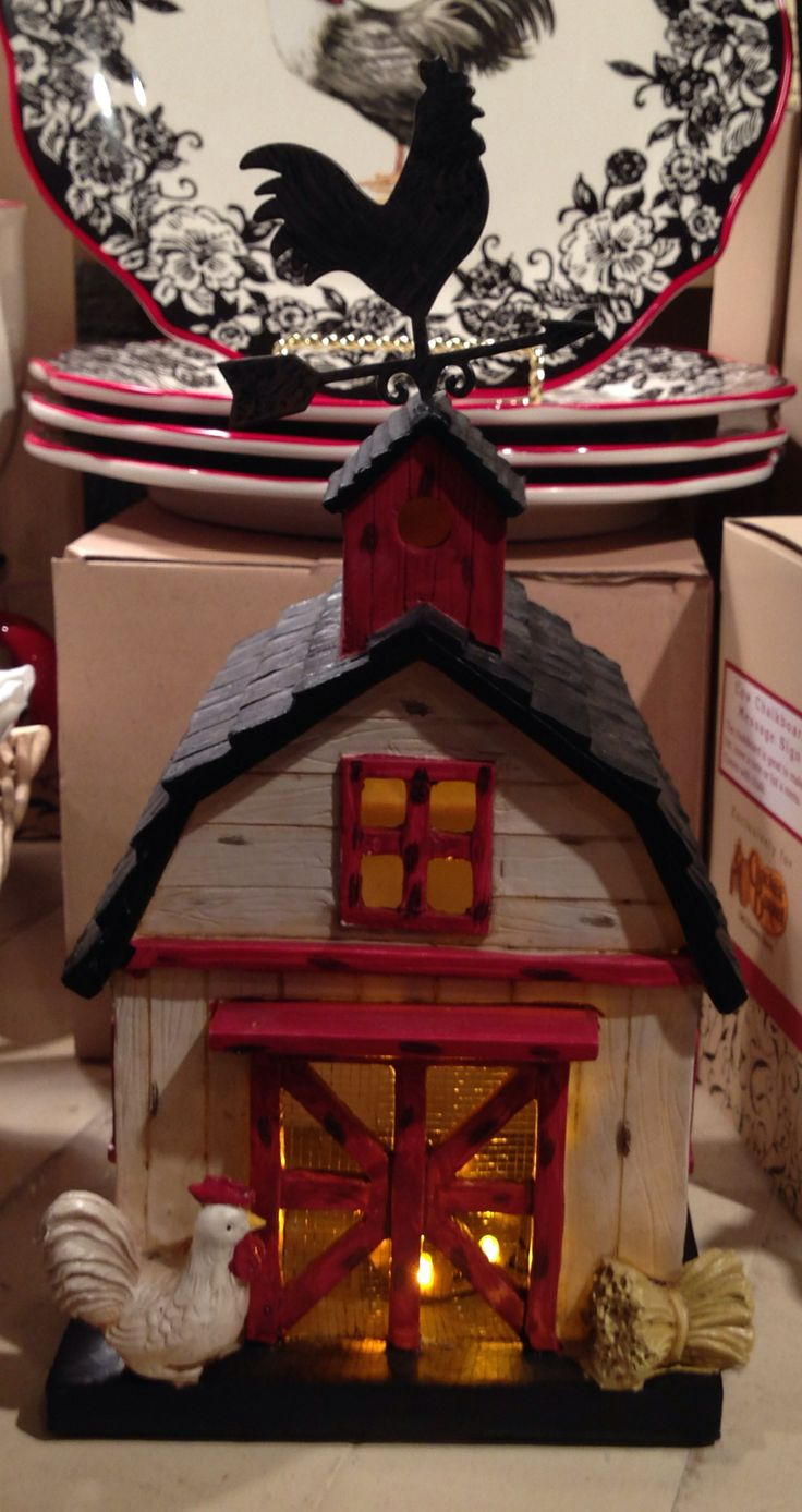 Rooster Barn Black  Red  White Cracker Barrel  Rooster Kitchen DecorRooster   198 best Country Rooster Kitchen Decor images on Pinterest  . Country Rooster Kitchen Decor. Home Design Ideas