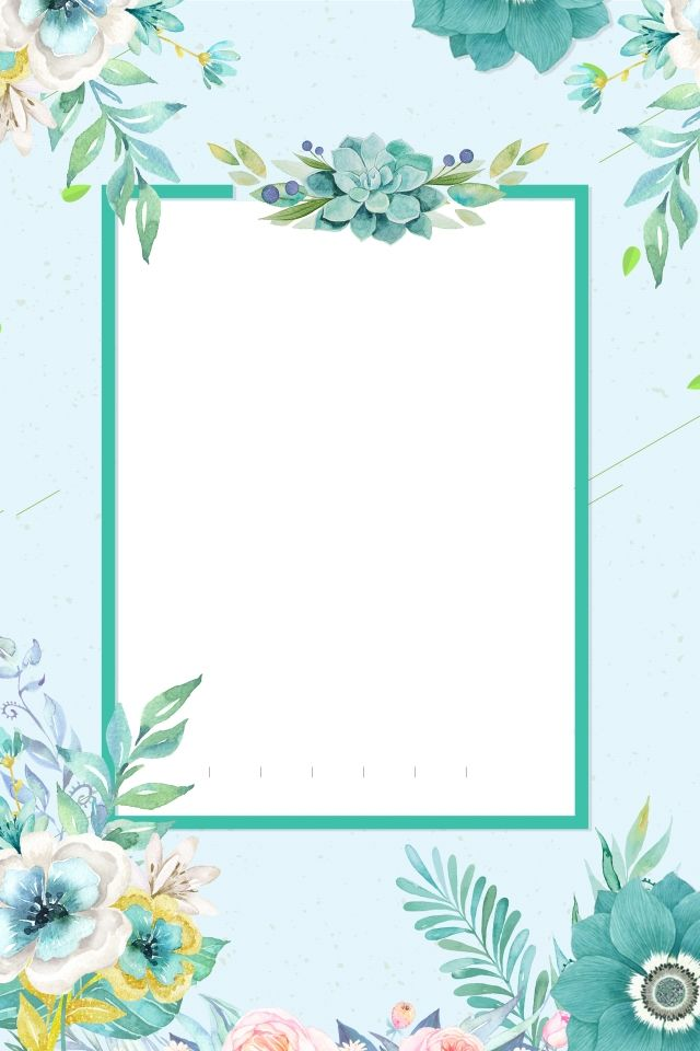 Fresh Fresh Flowers Invitation Card Hand Painted Flowers Flor