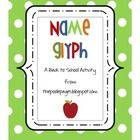 FREE! This name glyph is a fun, Back-to-School activity that you could do at any time during the first week of school.  You'll need to have your student'...