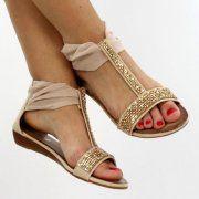šlapky sandalky štrasové 5 farieb 45e