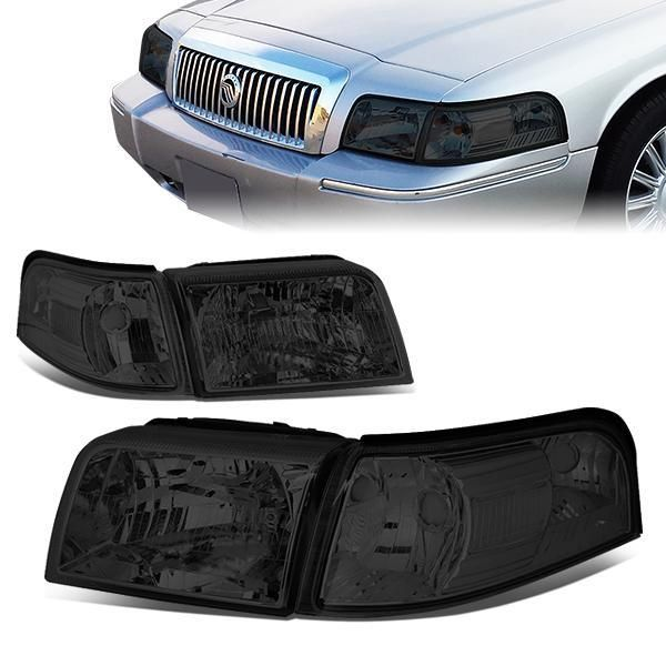 06 11 Mercury Grand Marquis Headlights Smoked Housing Clear Corner Grand Marquis Mercury Marquise