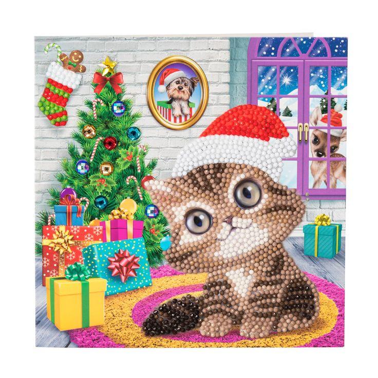 Craft buddy cozy kitten or kitty crystal art diy christmas