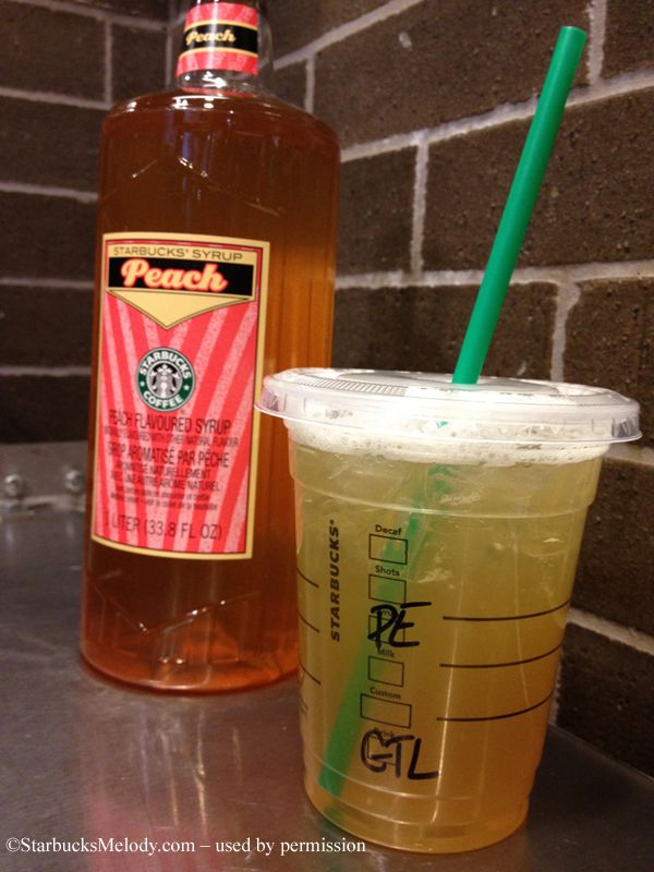 Iced Peach Green Tea Lemonade, my new go-to drink at Starbucks! Sweet, sour, and so delicious!