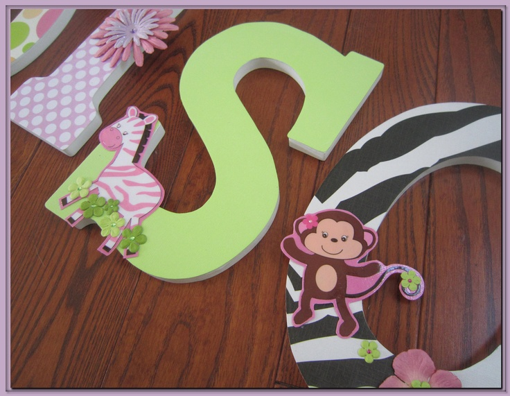 Jungle Jill Wall Decor : Jungle jill inspired nursery letters zoo garden
