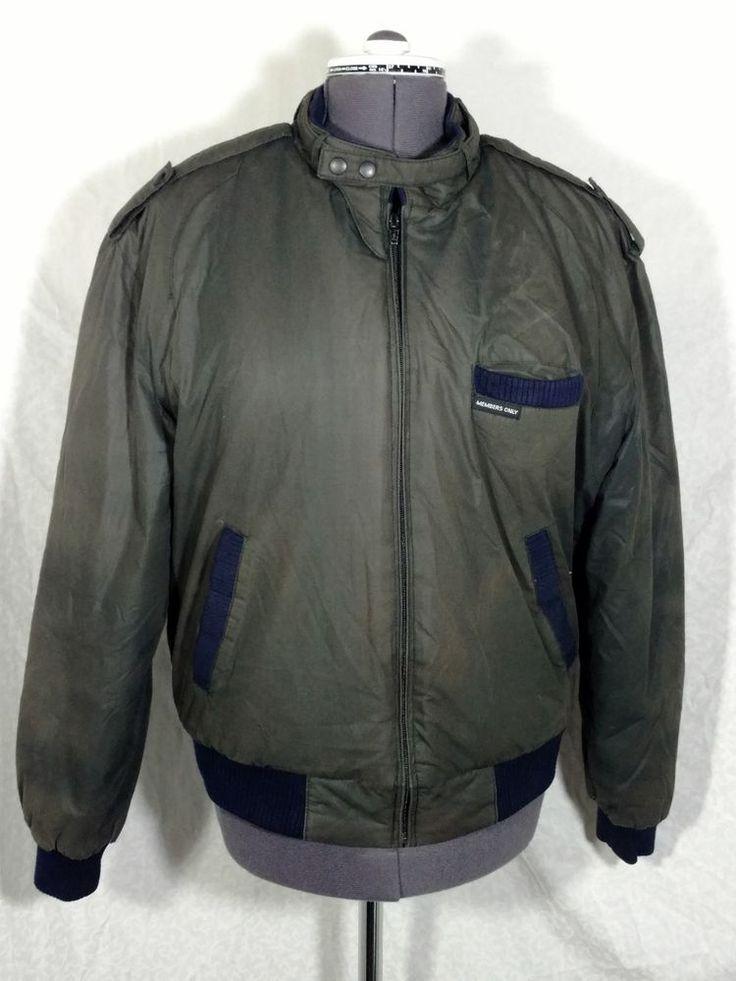 lb Members Only Size 40 Mens Bomber Jacket Vintage #MembersOnly #FlightBomber
