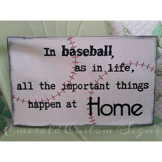 Baseball Sign All the Important Things by EmeraldCustomSigns