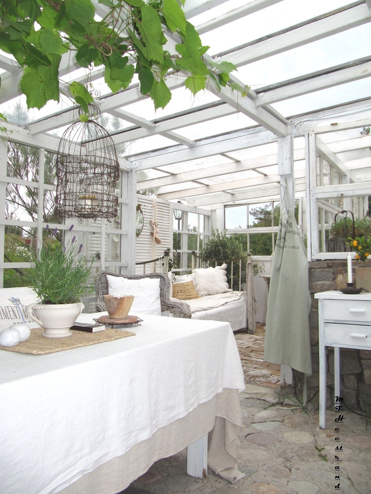 Garden room out of old windows