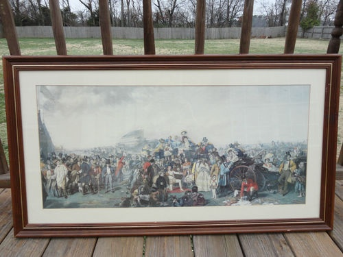 Vintage Late 1800s Characters Unique Picture W/Glass Frame Circus, Racing