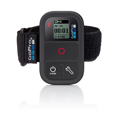Control your GoPro remotely from distances of up to 600' (180m) with this wearable, waterproof remote. Perfect for gear-mounted shots, you can power the camera on/off, adjust settings, start/stop reco