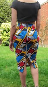 Image result for distance between waist and hip of a high waist skirt