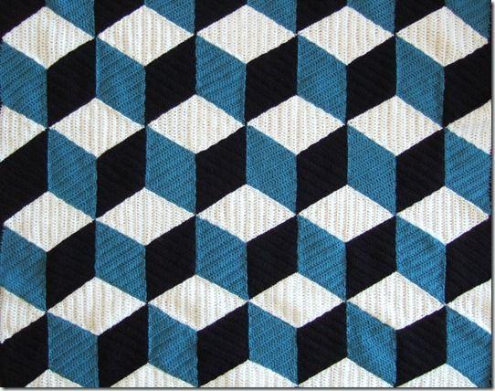 Isometric pattern with dc stitch