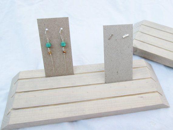 Paar Holz Ohrring Displays / / Holz Schmuck-Displays / / Boutique Produkt Displays / / Ohrring-Karten-Display / / Ohrring-Karten-Inhaber