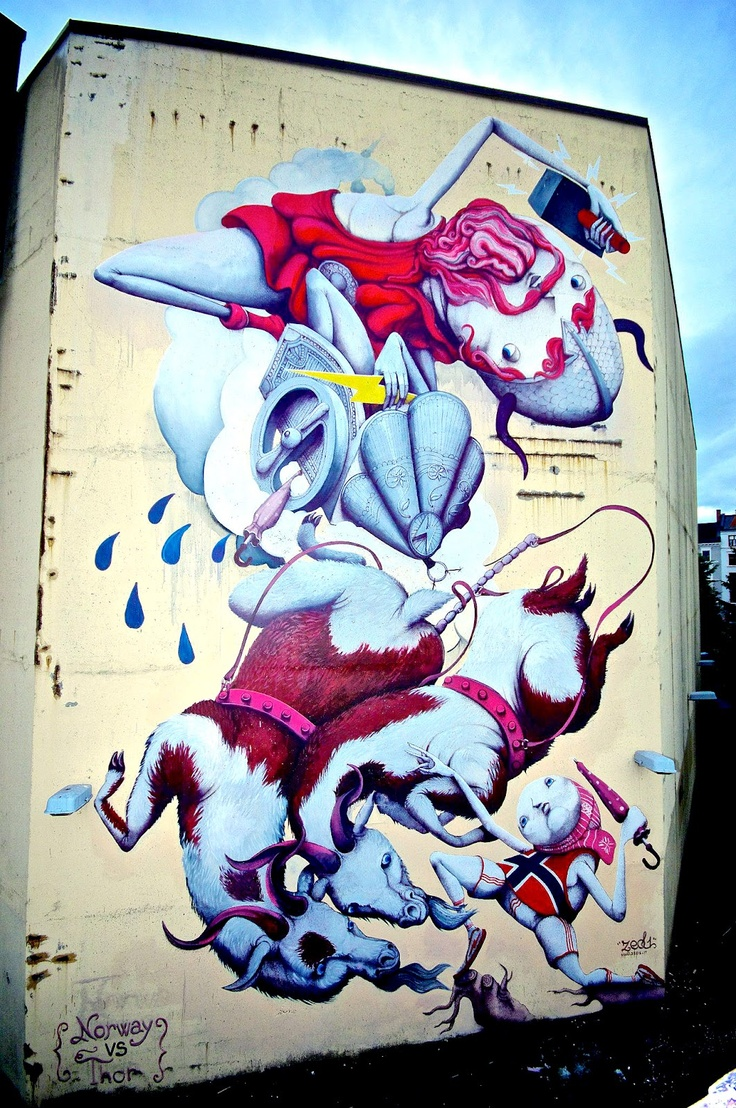 Grafitti art oslo - Shotka Zed1 New Mural In Oslo