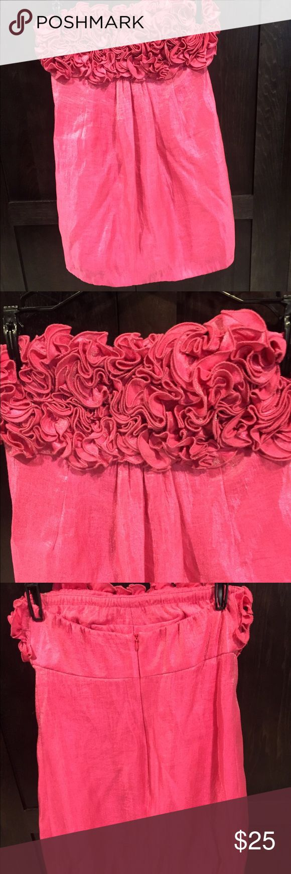Short hot pink dress Worn once to the Kentucky derby. Short, pink dress. Can be worn dressy or more casual with wedges. Dresses Mini