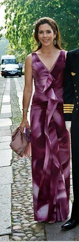 Princess Mary of Denmark pink ombre dress
