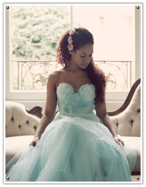 gorgeous whimsical powder blue wedding dress #wedding #bride  # Tiffany Blue Wedding ... For free wedding ideas, tips and tricks ... ♥  http://www.facebook.com/pages/Planning-a-Wedding-Wedding-Apps/323767291749 ♥ https://twitter.com/bridesiPhoneApp