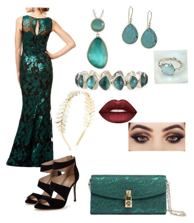 """""""Gracefully Green"""" by rainbowsforhire on Polyvore featuring Badgley Mischka, Carvela, Dolce&Gabbana, Stephen Dweck, Ippolita, Brandts Jewellery, Luxiro, Charlotte Russe and Lime Crime"""