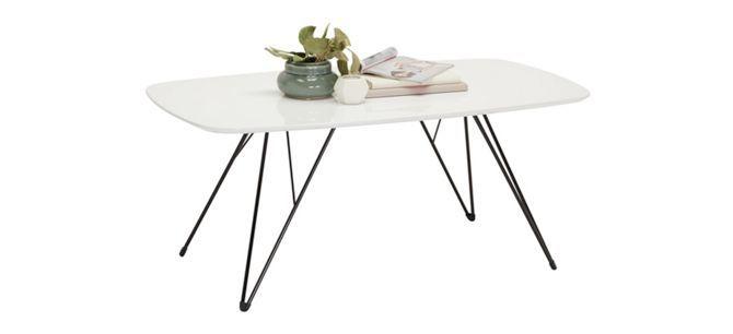 SOFFBORD - vit/svart, Modern, metall/träbaserade material (110/46/60cm) - CARRYHOME