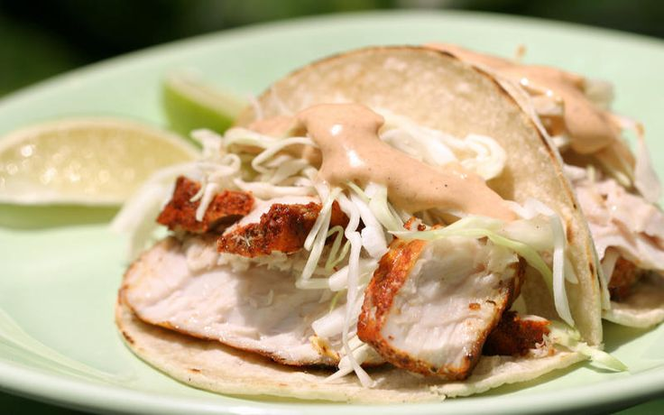 246 best healthy eating images on pinterest healthy for Halibut fish tacos